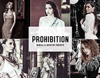 Prohibition Mobile & Desktop Lightroom Presets