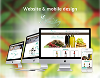 Website&mobile design Wine Story