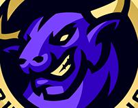 Bulls Gaming Mascot Logo, FOR SALE.