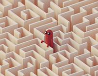 Sausage-kun in the noodle maze