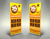 Farm Fresh Eggs Signage Banner Roll Up Template