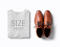 Size clothes. - branding