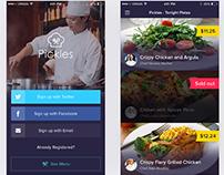 Free PSD – Restaurant App