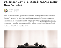December Video Games - Allen Chi