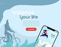 UI&UX Design BALANCE | Healthy Lifestyle App