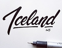 Iceland Type Postcards