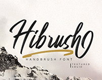 FREE | Hibrush Handbrush Font