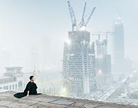 """雾霾之城""""City of smog"""""""