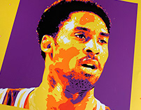 Kobe Screen Printed Poster