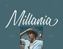Millania    Modern Script Font