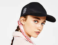 Lettering cap for Bershka