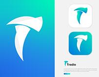 Modern T Logomark | Tradio Logo | T Letter Logo