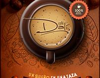 Trabajo de identidad corporativa para cafetería Dali, R