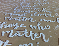 Various Hand Lettering