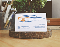 Business Card design for zicarparts.co.uk