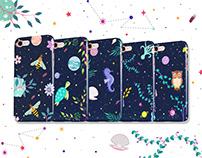 Space + Nature Merchandise Illustrations