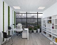 Функциональный и светлый дизайн офиса с видом на город