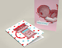 Illustrations for greeting cards, notebooks, height cha