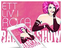 Kampanjsida för BABSAN SHOW - Ett liv i rosa!