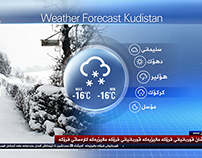 Vizrt Kurdsat News Weather Graphics.