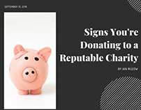 Signs you're donating to a reputable charity