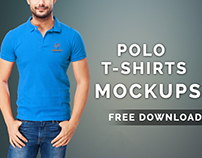 Polo T-shirts Mock-up Free Download