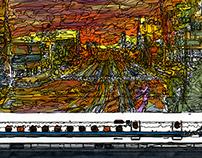 panorama Series Toyohashi Station~evening~