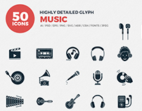 JI-Glyph Music Icon Set