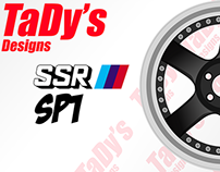 SSR SP1 Rims Template for Designing