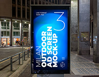 Milan Outdoor Advertising Screen Mock-Ups 5