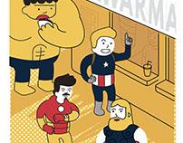"Avengers ""Shawarma Run"" poster"