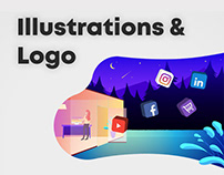 Illustrations & Logo for Digital Agency