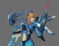 Cyborg girl 08