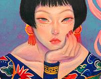 Oriental Pin Up Girl
