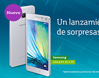 Lanzamiento Samsung GALAXY A3 y A5 - Movistar.co