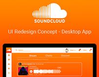 Soundcloud Desktop App - UI Redesign Concept