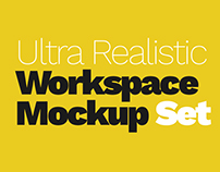 Ultra Realistic Workspace Mockup Set