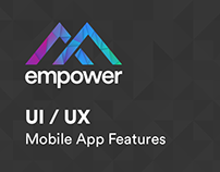 Empower - UI/UX - Mobile App Features