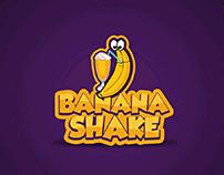 Banana Shake Concept Logo Branding