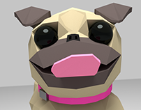 Low Poly Pug