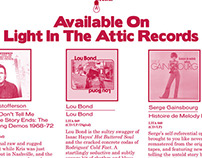 Light In The Attic Records LPs international ad+digital