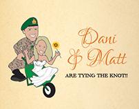 Matt & Dani's Wedding Invitation