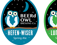 BEER'd Owl Brewing Labels