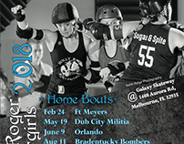 Molly Roger Rollergirls + DRRD Schedules 2018