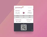 [UI] Boarding Pass