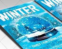 Winter Celebration - Seasonal Flyer PSD Template