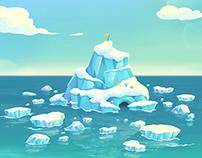 Ice island of SNOW.B