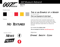 007 Museum Rebrand Style Tile