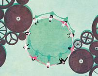 Editorial illustration magazine I2D