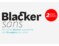 Blacker Sans family including 2 Free fonts